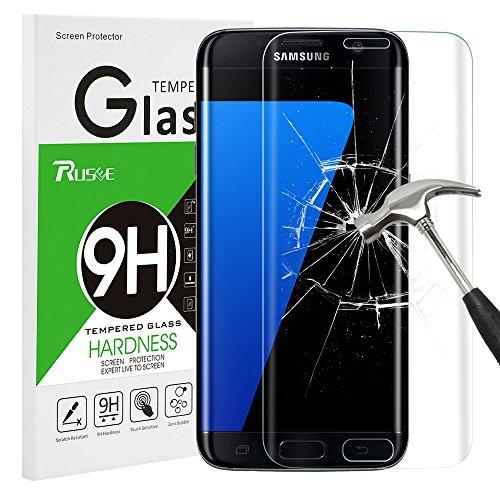 galaxy s7 edge panzerglas Galaxy S7 Edge Panzerglas Schutzfolie, Rusee 9H Härtegrad 3D HD Ultra Klar Anti-Kratzer Panzerglasfolie Hartglas Gehärtetem Glas Displayschutzfolie Displayschutz für Samsung Galaxy S7 Edge