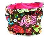 Kleine Könige Loop Schal Schlauchschal (dehnbar, 1-8 Jahre tragbar) Mädchen Baby, 100% Öko-Tex Elefantenparty pink, pink