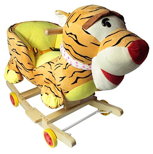 Schaukelpferd Plüsch Schaukeltier Pferd Lieder Spielzeug Kinder Baby P101 (Tiger)