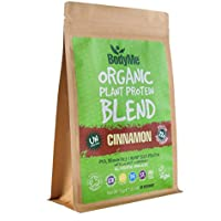 BodyMe Organic Vegan Protein Powder Blend | Raw Cinnamon | 1kg | UNSWEETENED with 3 Plant Proteins