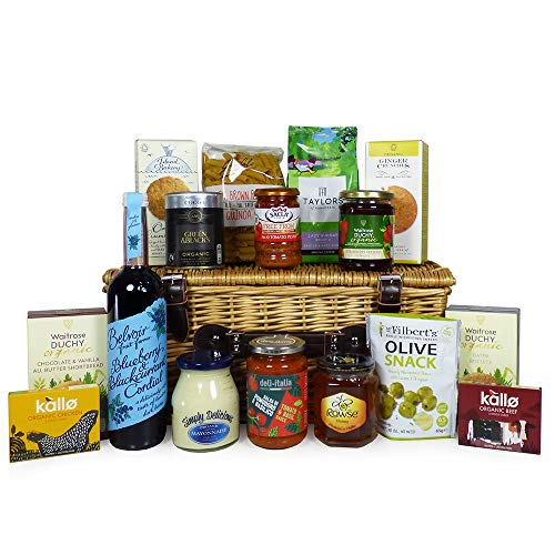 Deluxe Seasonal Food Hamper Presented in a Wicker Basket - Ideas for Birthday, Wedding, Anniversary and Corporate