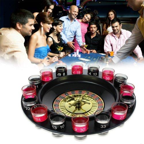 Monsterzeug Trinkspiel mit Schnapsgläsern - Roulette, Schnaps Roulette, Saufspiele, Partyspiele, Spiele für Erwachsene