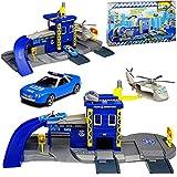 Motormax Polizei Station mit Fahrzeug und Zubehör mit vielen Funktionen