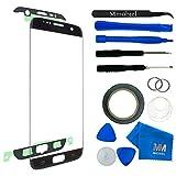 MMOBIEL Kit de remplacement vitre frontale pour Samsung Galaxy S7 Edge G935 Series (Noir) écran tactile inclus: outil 11 de pièce avec Pincette/autocollant pré-découpé/Chiffon/fil métallique
