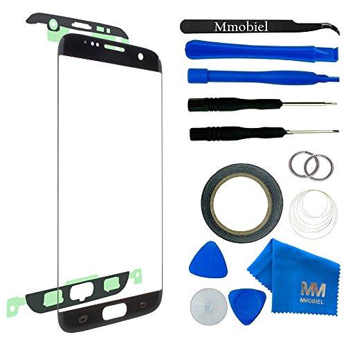 MMOBIEL Front Glas für Samsung Galaxy S7 Edge G935 Series (Schwarz) Display Touchscreen mit 12 tlg. Werkzeug-Set / PreCut Sticker / Pinzette / Rolle 2mm Klebeband / Saugnapf / Metall Draht / Tuch (2 Samsung Digitizer Note)