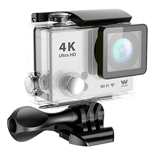Woxter Sportcam 4K WC26-024 - Cámara Deportiva Digital sumergible hasta 30 m con salida HDMI, color plata