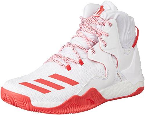 adidas D Rose 7, Scarpe da Basket Uomo, Bianco (Blanco Rojray/Ftwbla), 49 1/3 EU