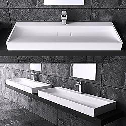 BTH: 70x46x11 cm Design Waschbecken Colossum19, aus Gussmarmor, Waschtisch, Waschplatz