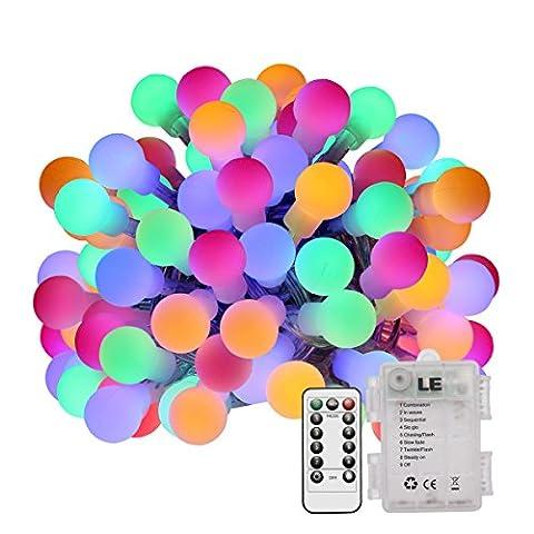 LE 6.5m Guirlande Lumineuse 60 LEDs, 8 Modes, IP44 Résistante à l'Eau, avec un Télécommande, Idéale Pour DécorationIntérieure et Extérieure[Classe énergétique A+]