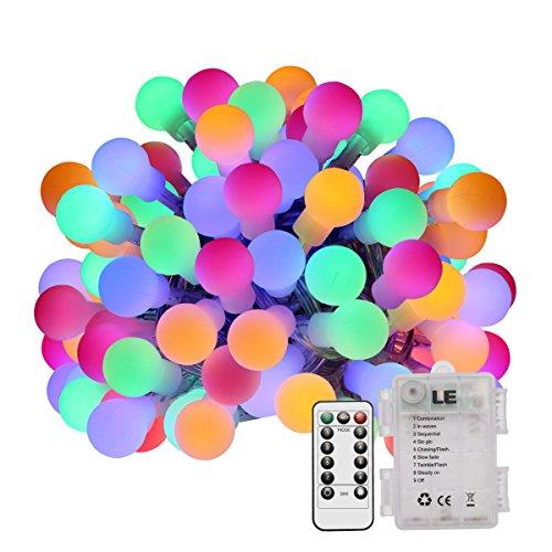 LE Guirnalda de luces LED 6m 60 LED 8 Modos, a Pilas, Temporizador, Resistente al agua, Decoración de hogar, bares, cafetería, Navidad