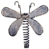 Garden kraft 19530 Benross Metall, Libellen-Design, LED-Solar-Lichterkette (10 Stück)