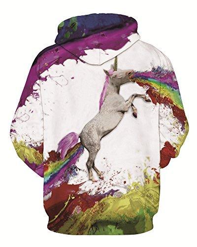 Minetom Donna Uomo Sweatshirt Unisex Coppia Casuale Felpa Con Cappuccio 3D Stampato Maniche Lunghe Hoodies Pullover Horse