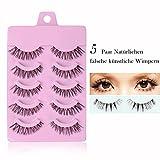 5 Paar falsche künstliche Wimpern Eyelashes,Eyelasches Wimpernverlängerung Make-up (1)