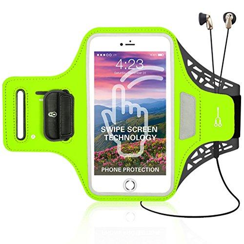 X-Super Sweatproof Joggen Laufen Sport Armband Handy Hülle Schutzhülle Tasche Case, Schlüsselhalter Kopfhörer Anschluss