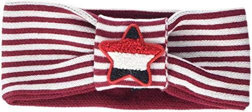Tommy Hilfiger Damen Logo Headband Stirnband, Rot (Rumba Red/White 902), Medium (Herstellergröße: S-M)
