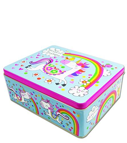 Rachel Ellen - Latas de almacenamiento, diseño de unicornio con texto en inglés 'Magical treasures'