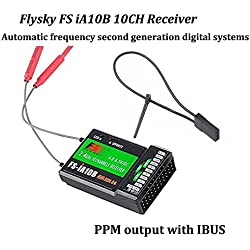 Flysky FS-iA10B Receptor 10 Canales RC Receiver PPM Output with iBus Port 2.4GHz RC Receiver Compatibile Con i6 i6S i10 i6x RC Transmisor for FPV Racing RC Drone Quadcopter by LITEBEE