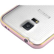 JAMMYLIZARD | Carcasa Marco Bumper Para Samsung Galaxy S5 / S5 Neo Dura y Delgada, ROSA