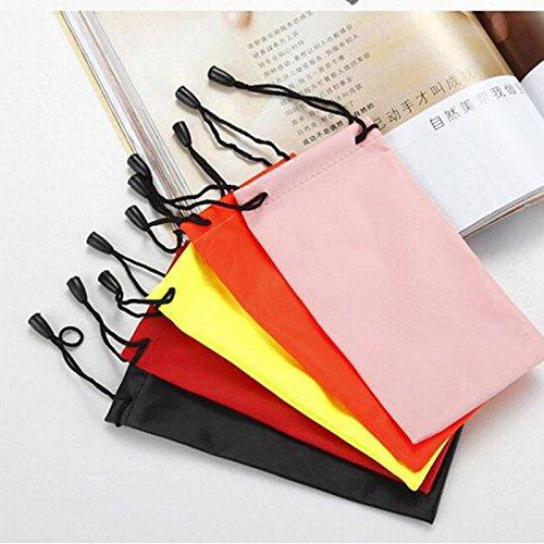 Pack von 5x BRILLEN Tasche Tuch Tasche wasserdicht Sonnenbrille Säckchen Multicolor, seit