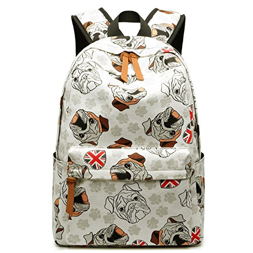School Student Big Backpack Book Bag Travel Laptop Backpack For College Middle High Student,Large Capacity, Cute Cartoon Print Backpack, Outdoor Sport,White