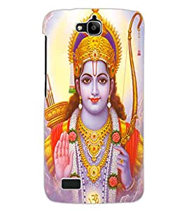 ColourCraft Lord Rama Design Back Case Cover for HUAWEI HONOR HOLLY