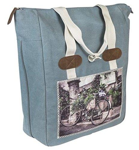 FastRider Shoper cyclo blau Fahrradtasche Gepäckträger Einzel Tasche Packtasche