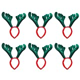 Juego de 6 diademas con diseño de ángeles para decoración de Navidad, fiestas y disfraces, diseño de ángeles rojos