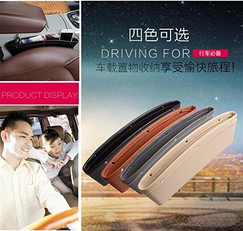 Tasca organizer porta telefono da posizionare tra i sedili dell'auto, compatibile con Audi, BMW, Opel, Toyota,Ford, Jeep, Buick e Volvo