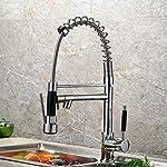 Chrome Swivel Spout Single Handle Sink Faucet Kitchen Pull Down Spray Mixer Tap