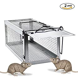 Langxun Humane Rat Live Cage Trap Animal Trap, Rat Trap, Mouse Trap, Chipmunk Trap, Squirrel Trap & Weasel Trap (2 Pcs)