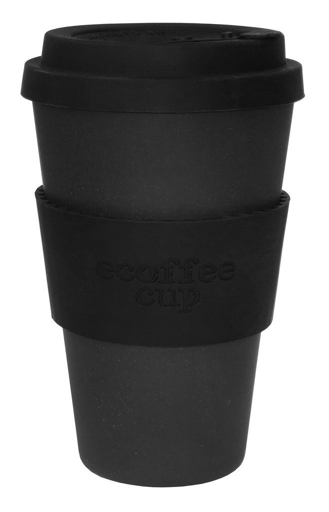 Ecoffee-Cup-Kerr-Napier-Black-Silicone-14oz-Reusable-Eco-Friendly-Takeaway-Coffee-Cup