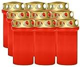 Lote de 9 velas funerarias (12 cm), color rojo