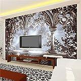 SKTYEE Carta da parati fotografica 3D personalizzata RetroTVMurale di grandi dimensioniFondali Home Decor Papel De Parede Carta da parati 3D soggiorno Murale, 250x175 cm (98,4 da 68,9 in)