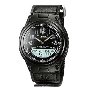 Casio - AW-80V-1BVEF - Montre Homme - Quartz digitale et analogique - Bracelet en cuir noir