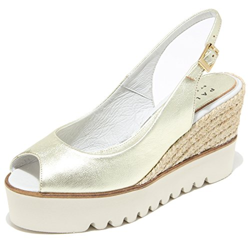 8525I PALOMITAS sandalo zeppa donna sandals shoes women oro [40]