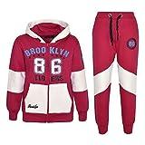 A2Z 4 Kids® Kinder Mädchen Trainingsanzug Brooklyn 86 Tigers Aufdruck - T.S Brooklyn 86 Pink 7-8