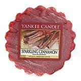 Yankee Candle Sparkling Cinnamon Tart da Fondere, Cera, Rosso, 5.8 x 5.7 x 1.7 cm