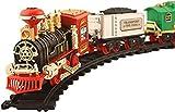 #6: Hobnot Beautiful Vintage choochoo Locomotive Train with Artificial Smoke,Sound and Light
