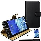 4in1 PREMIUM Wallet Hülle in Schwarz für - Samsung Galaxy