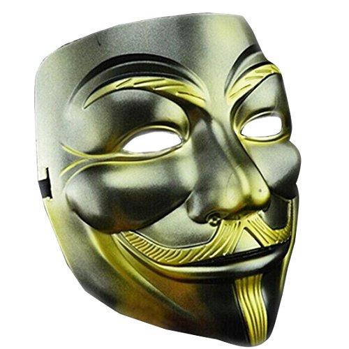 Samgoo Halloween V wie for Vendetta Maske Anonymous Karneval Fasching Occupy Party (Kostüm Halloween Puppet Mann)