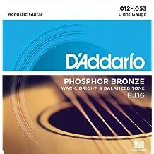D'Addario EJ16 Set Corde Acustica EJ Phosphor BRZ RND WND