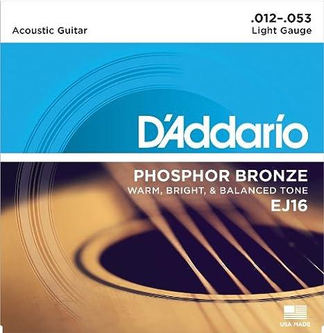 D'Addario EJ16 Phosphor Bronze Light (.012-.053) Acoustic Guitar
