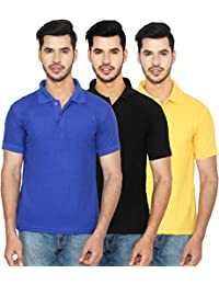 ANSH FASHION WEAR Regular Fit Polo T-shirt Combo For Men - Half Sleeves Cotton Blend Casual Men's Polo - Set Of...