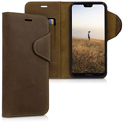 kalibri-Huawei-P20-Lite-Hlle-Leder-Handyhlle-fr-Huawei-P20-Lite-Handy-Wallet-Case-Cover
