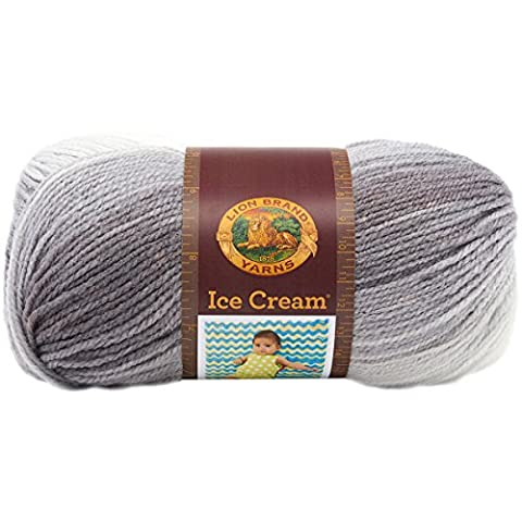 Lion Brand Yarn 100 Percent Acrylic Ice Cream Yarn, Cookies and Cream