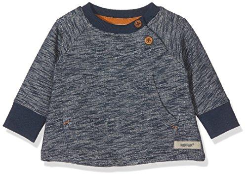 Papfar Baby-Mädchen Slub Sweatshirt Gots, Blau (Blue Nights 287), 62 (Herstellergröße: 3M)