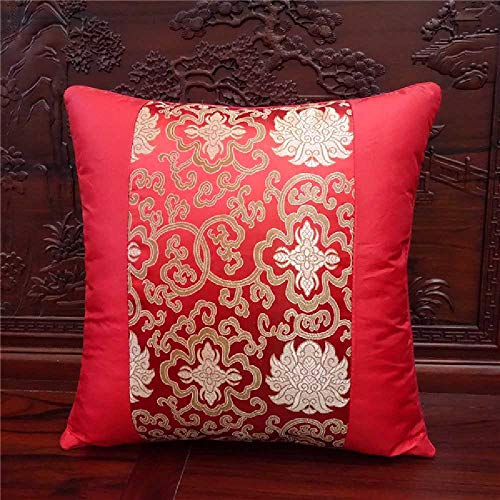 kh Chinesisches Brokat - Satin - Kissen auf Klassische Mahagoni - Sofa sitzt Stuhl Taille Kissen. 40 * 40cm/Rot -