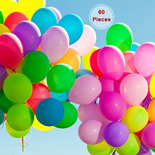 60 pièces Jumbo Metallic Party Balloon - Anniversaire Cérémonie fête religieuse Décoration 22,9 cm Ballons en latex