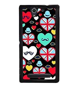 PrintVisa Designer Back Case Cover for Sony Xperia C4 Dual :: Sony Xperia C4 Dual E5333 E5343 E5363 (love heart valentinesday shapes lover)