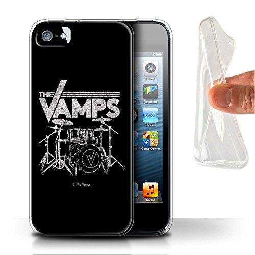 Offiziell The Vamps Hülle / Gel TPU Case für Apple iPhone 5/5S / Pack 6pcs Muster / The Vamps Graffiti Band Logo Kollektion Schlagzeug